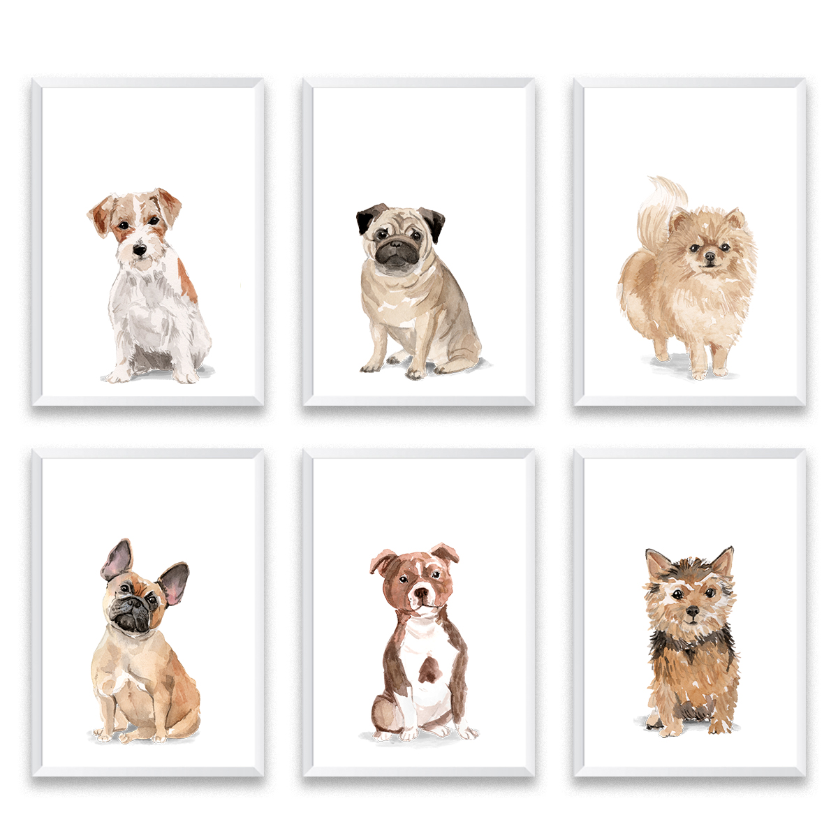 Set Of 6 Dog Prints by Mode Prints.jpg